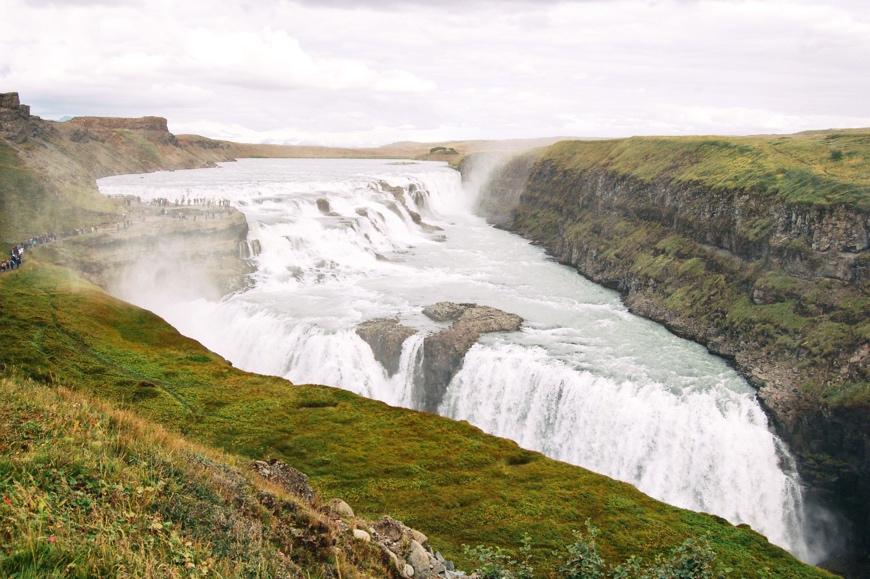 Iceland Waterfalls: Gullfoss Waterfall - Golden Circle Waterfall