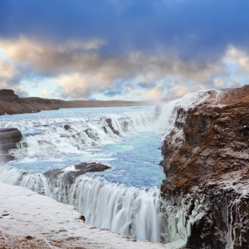 Gulfoss Waterfall - Iceland South Coast