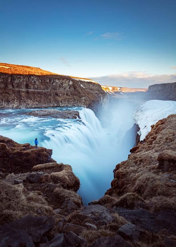 Waterfalls in Iceland: Gullfoss Waterfall - Golden Circle Waterfall