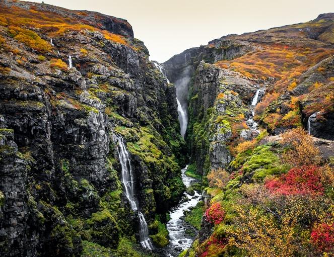 Glymur Waterfall Hike - Iceland South Coast