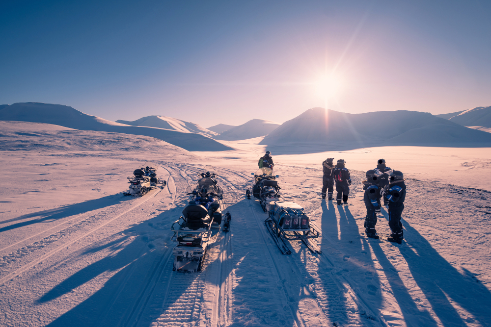 Private South Coast Tour & Snowmobiling on Eyjafjallajökull